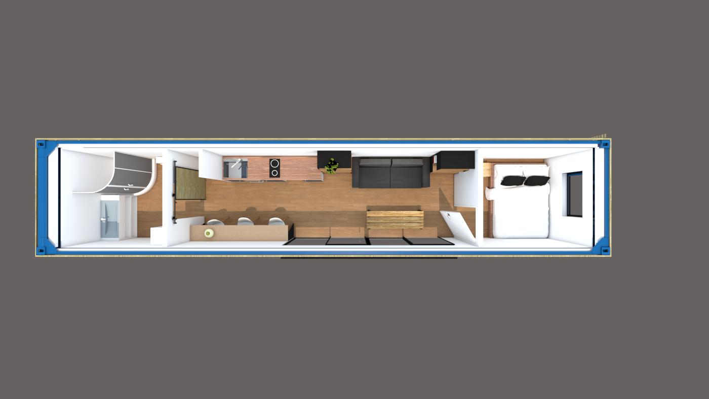 plan studio container abri jardin