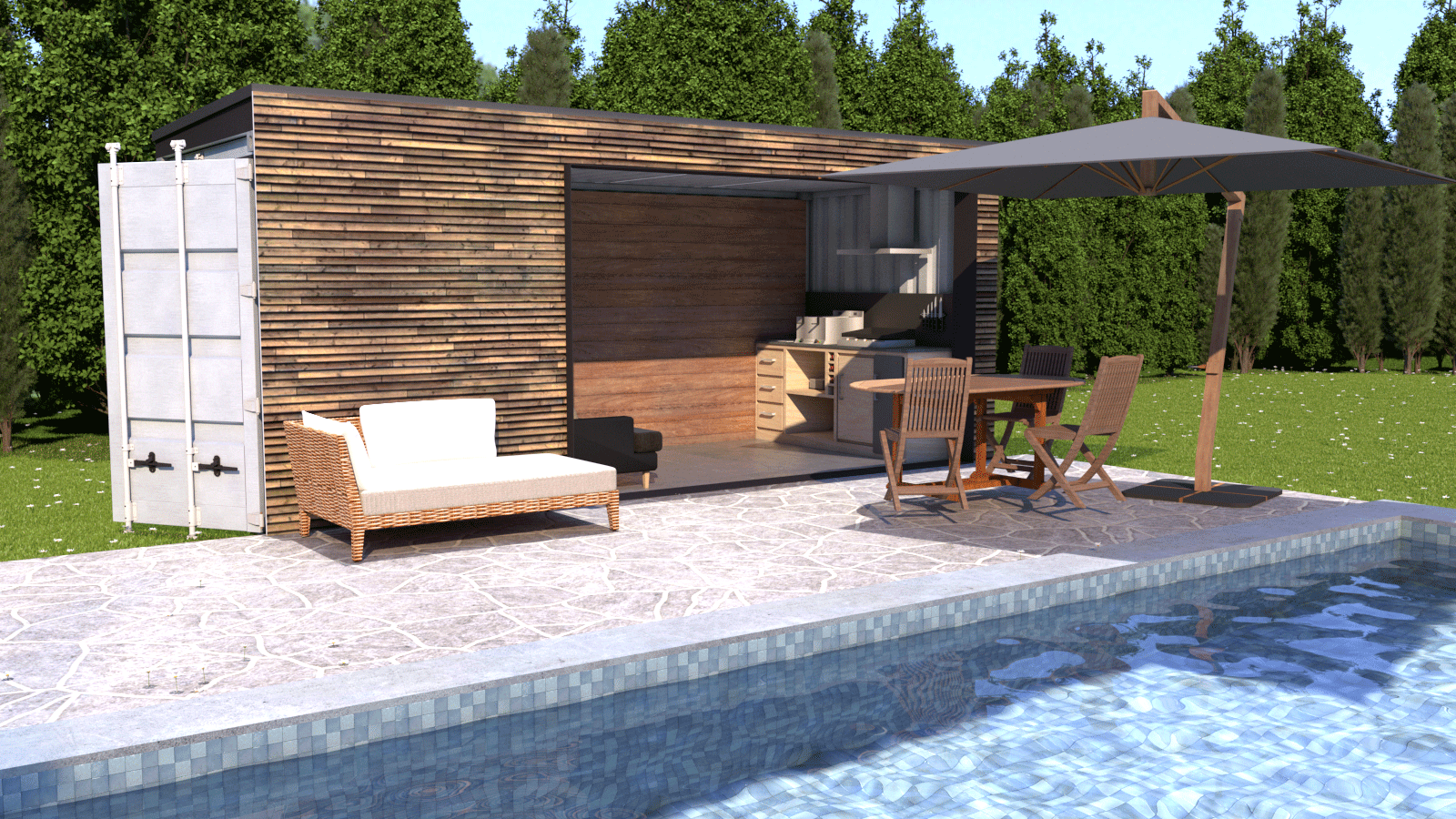 Pool House container lacase