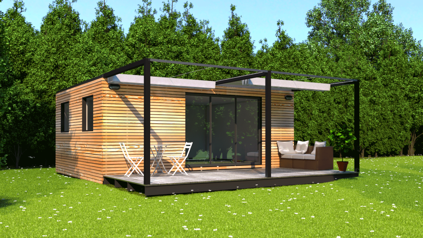 maison Container lodge lacase