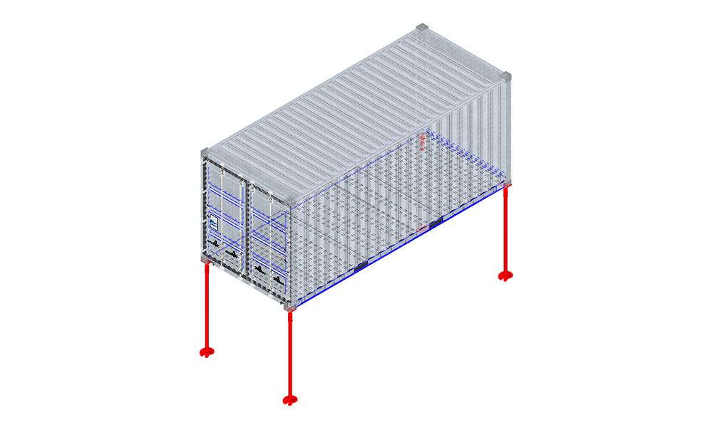fondation container pieux vissés