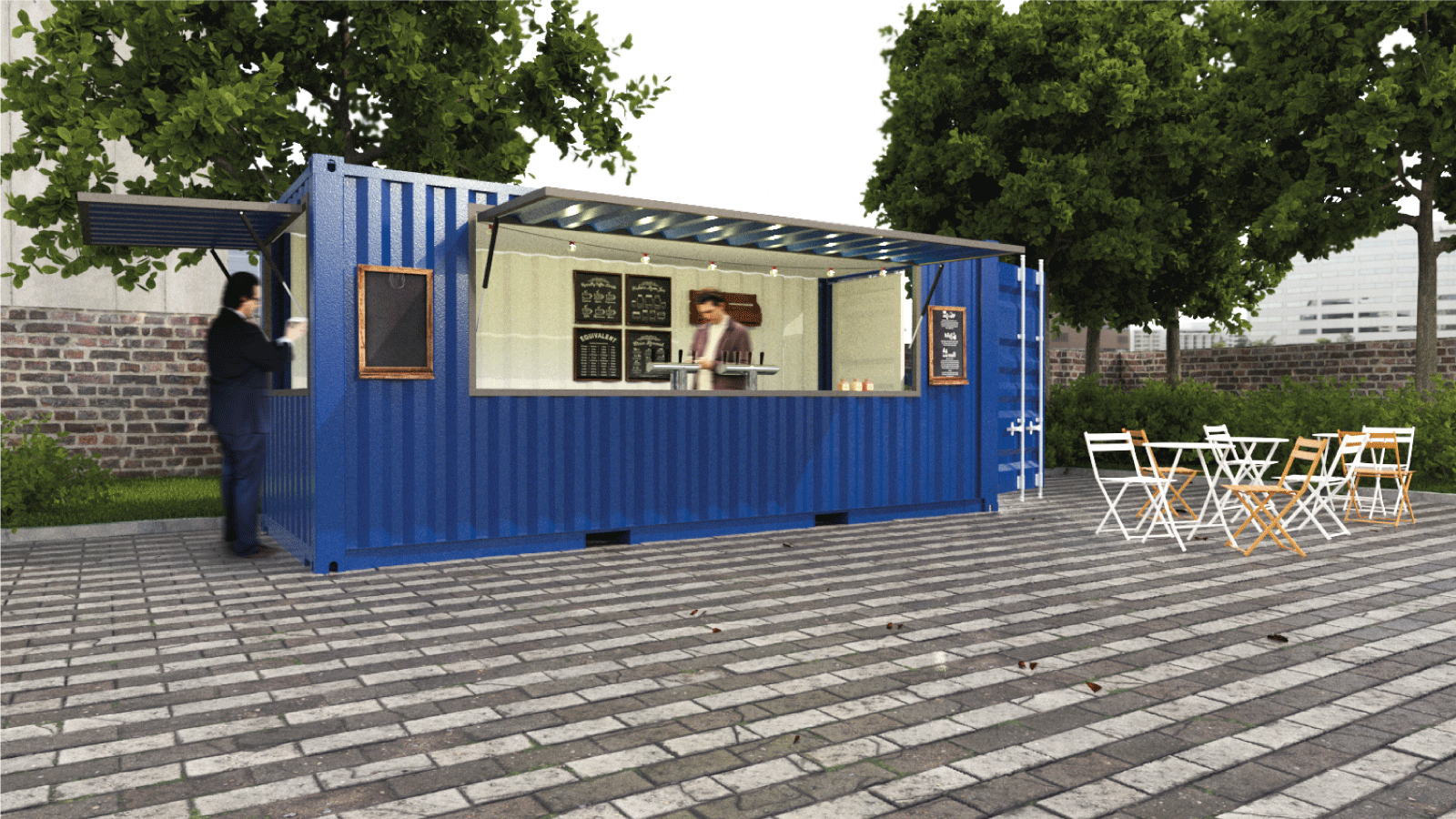 snack bar container restauration food truck