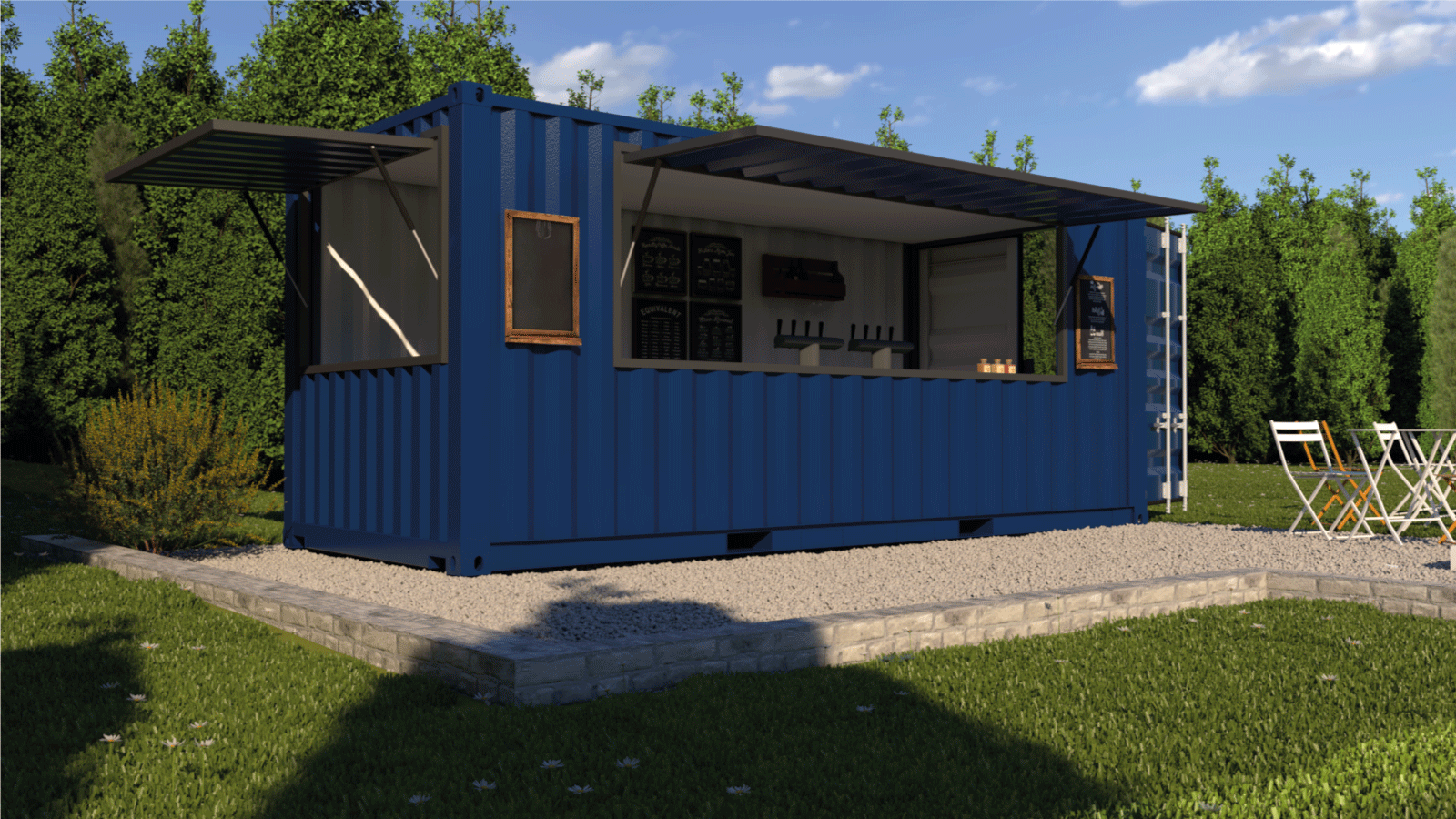 snack bar espace restauration food truck container