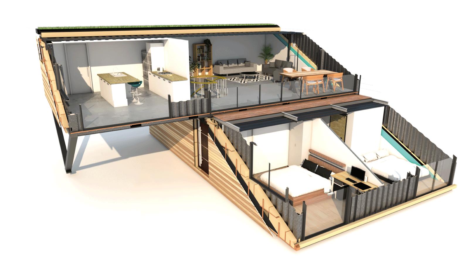 maison container ecoresponsable matériaux lacase